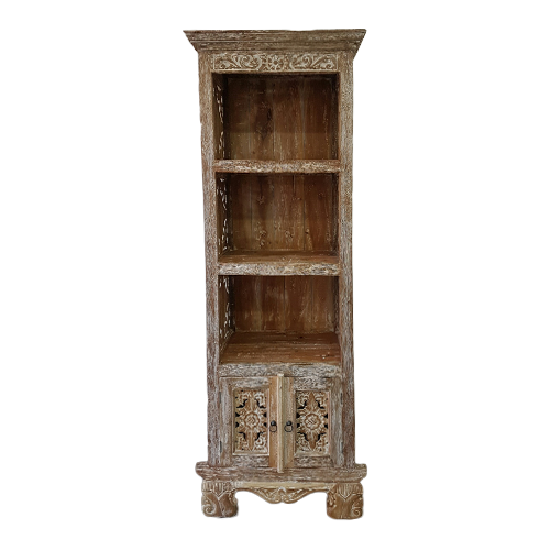 BOOKCASE ORNATE CARVED