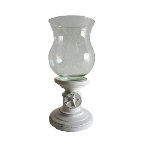 CANDLE STAND GLASS WITH TAG