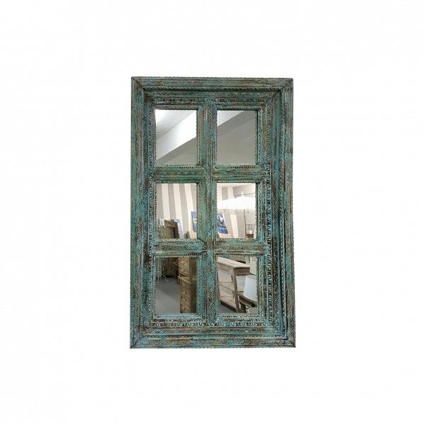 MIRROR INDIAN WINDOW 6 PANE