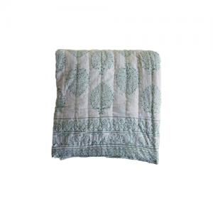 QUILTS COTTON VOILE GREEN