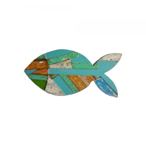 FISH WALL RECYCLED TEAK