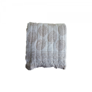 QUILTS COTTON VOILE TAUPE