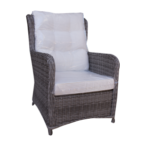 CHAIR WINGBACK SYNTHETIC RATTAN