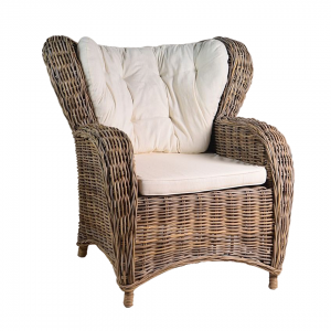 KUBU GREY CHAIR WINGBACK