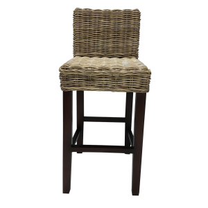 BAR STOOL BACKREST KUBU GREY