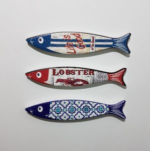 FRIDGE MAGNETS 3 FISH