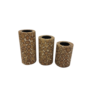 TEALIGHT WOOD CYLINDER S
