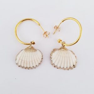 EARINGS CLAM SHELL