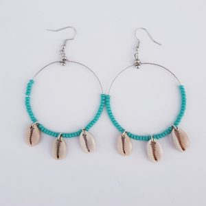 EARINGS ROUND COWRIE