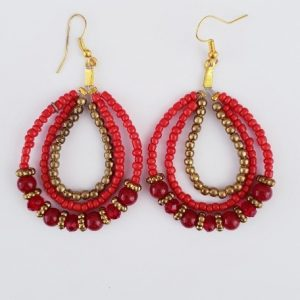 EARINGS ROUND BEADS
