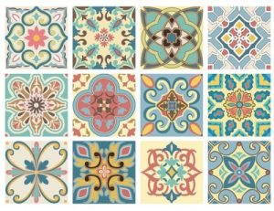 TILE STICKERS set 12 15X15CM