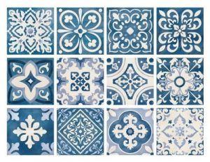 TILE STICKERS set 12 10X10CM