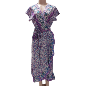 WRAP DRESS FRILLED