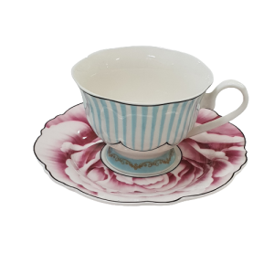 CUP N SAUCER JENNA CIFFORD WAVY ROSE