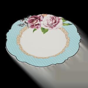 DINNER PLATE JENNA CLIFFORD WAVY ROSE